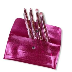 GLAMIERRE Pink Luxe Glitter Eye Brush Collection